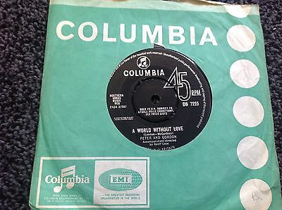 Peter And Gordon - A World Without Love Uk Single 1964 Columbia Ex