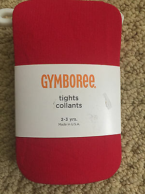 NEW! Gymboree Red 2-3 years Toddler Girl's Tights
