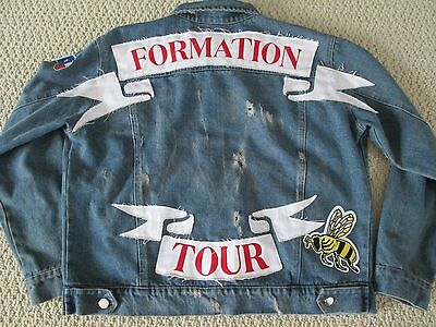 New Authentic Beyonce Formation World Tour Merch Bee Patch Denim Jacket Sz M