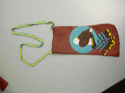 Native American Western Apache Beaded Neck Pouch. It's vintage!