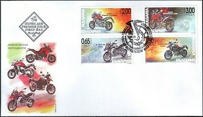 FDC Motorcycles 2016 from Bulgaria
