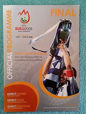 2008 - EURO CHAMPIONSHIP FINAL PROGRAMME - GERMANY v SPAIN - English Language Ed