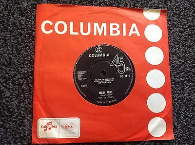 The Shadows - Mary Anne Uk Single 1965 Columbia Vg+
