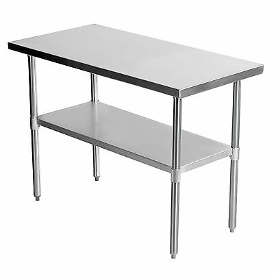1220 x 610mm Stainless Steel Work Bench Catering Table Shelf Commercial 4x2FT