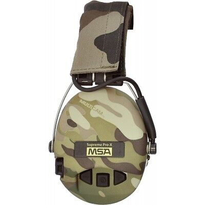 MSA SORDIN SUPREME PRO-X  MULTICAM CUPS  WITH GEL SEALS and LED LIGHT