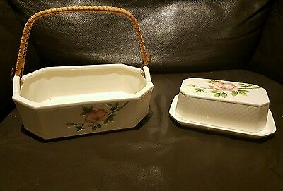 Egg Basket And Butter Dish