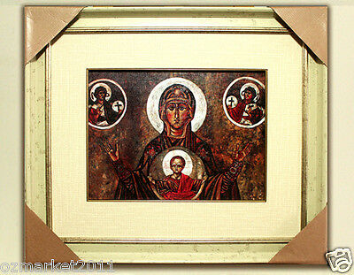 Catholic Church Portrait Jesus Cross Christian Blessed Cloth Delicate Frame K
