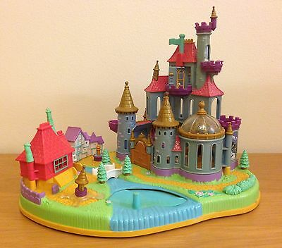 Vintage Polly Pocket Beauty and the Beast Magical Castle Compact Bluebird 1997