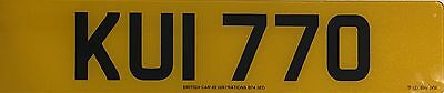 Kui 770 Personalised Cherished Private Number Plate On Retention