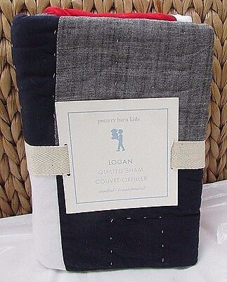 Pottery Barn Kids Logan Quilted Standard Sham, New