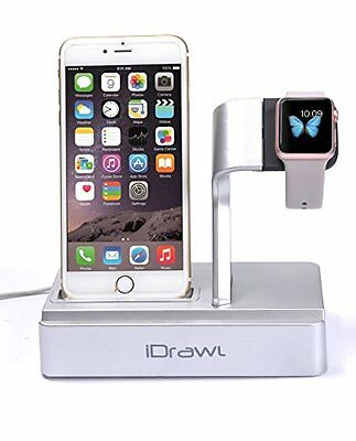 Apple Watch Stand, Apple Watch Charger iPhone Docking Station, i-DRAWL Charging