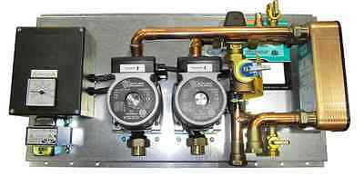 Hot water tank hydronic heating