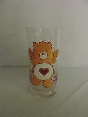 Vintage Collectible TENDERHEART CARE BEAR Glass from Pizza Hut 1983