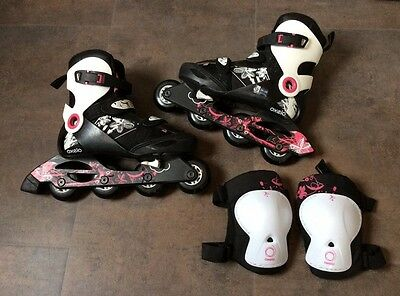 Inline Skates by Oxelo (size 36-38), plus knee pads