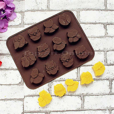 Silicone Cartoon Owl Cake Decorating Mould Candy Cookies Chocolate Baking Mold