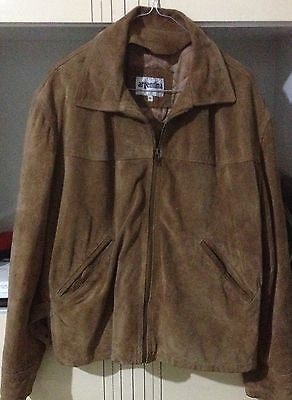 Giubbino PELLE CAMOSCIO Vintage Made in Italy Giacca Chamois Leather Jacket  46