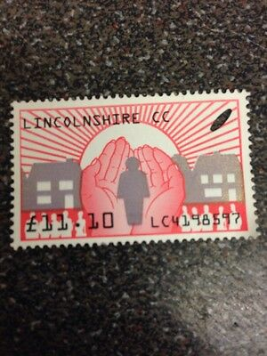 stamp Lincolnshire £11.10  ( Used clear )