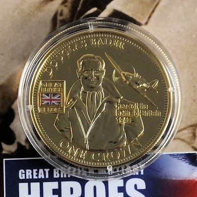 2010 Great British Military Heroes  - Keith Park Golden Crown Coin + Coa