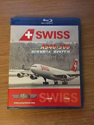 Just Planes Swiss Airbus A340-300 Siberia Cockpit DVD, Aviation, Boeing, Blu Ray