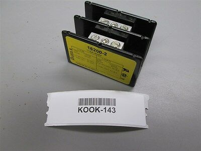 Lot of 13 New Buss 16200-2 Power Block 115 Amp 600 Vac  2 pole Old Stock