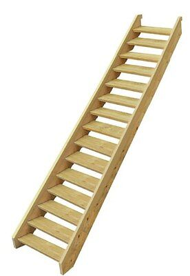 Ezistep Timber 15 Step Stair Kit  Vertical Height of 2560 MM Size 10g x 63.5mm