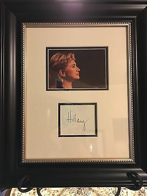 Hillary Clinton Signed Authenticated Framed Photo Auto President Coa Psa/dna