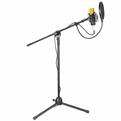 Professional Studio Broadcasting Recording Condenser Microphone and Stand Kit