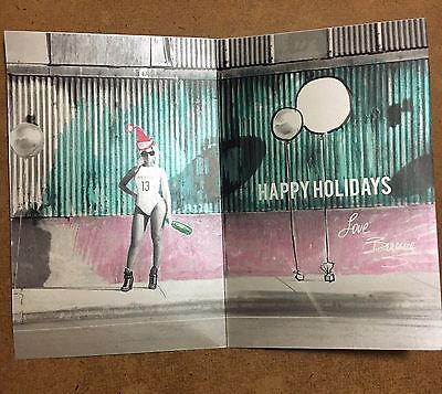 RARE Beyoncé Preprint Signed Promo Christmas Holiday Card