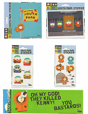 LOT 5 pcs Stickers decal South Park Kenny Stan Kyle Cartman Comedy Central