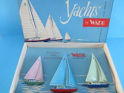 Wade Irish 1955 Set Of 3 Yachts Figurines With Original Box *extremely Rare*