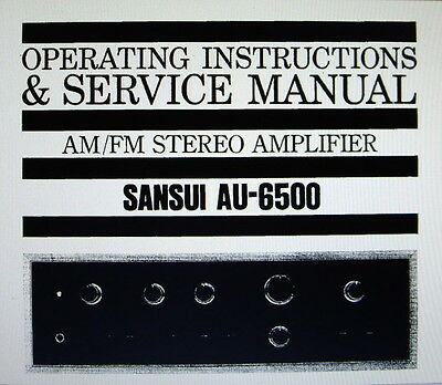 Sansui Au-6500 St Amp Operating Instructions And Service Manual Bound English