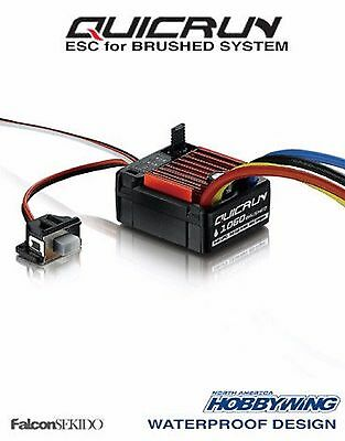 Hobbywing QUICRUN 1060 Brushed ESC Waterproof Speed Control 1/10 Cars ,Boat