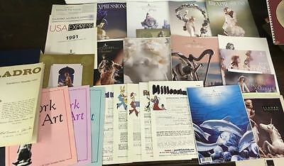 Lot of 28 Lladro Expressions Magazine Issues, Supplements & New Arrivals 1990s