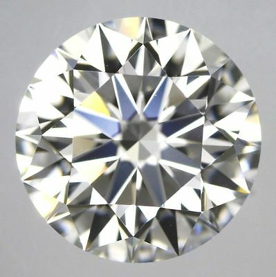 loose moissanite fiery 2.03 ct 8.33 mm off white color VS1 round brilliant ut