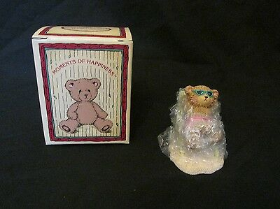 New Russ Berrie Moments of Happiness Endless Summer Tanning Bear Figurine