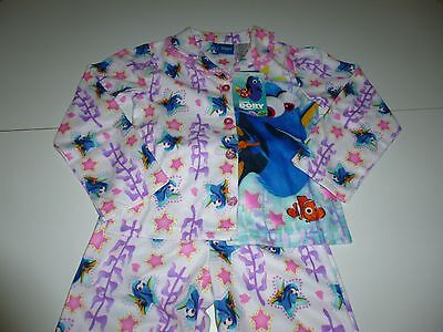 NWT Disney Finding Dory Girls 2 Pc Fleece Button Down Pajamas Set ...