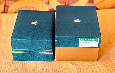 Vintage Rolex Inner And Outer Green Boxes Authentic From 1960-80's Excellent