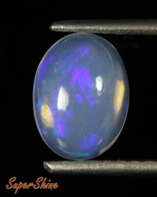 1.36 Cts NATURAL WILO FIRE ETHIOPIAN OPAL OVAL CABOCHON GEMSTONE