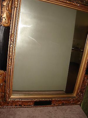 Antique Mirror - Black and Gold