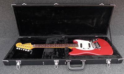 New Vintage Style Black Case Fits Fender Mustang, Music Master & Cyclone Guitars