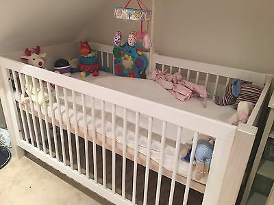 Childwood Collection White Cot/ Junior Bed With High Quality Mattress