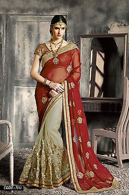 Sari Indian Bollywood Party Wear Saree Pakistani Wedding Bridal Ethnic Sari 7111