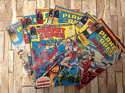 9 Vintage Marvel Planet of the Apes Comics 1976