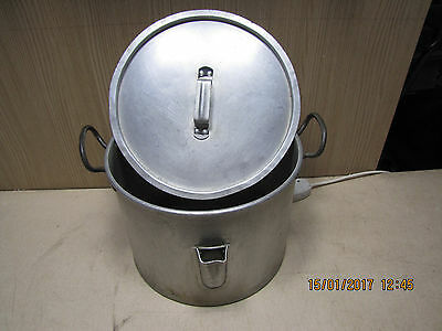 aluminium catering large cooking stock stew pot 2 handled with lid 6