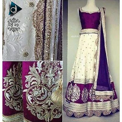 Indian Designer Anarkali Wedding Party Wear Ethnic Pakistani Bridal Choli Dj 29