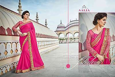 Sari Indian Designer Saree Bridal Wedding Pakistani New Fancy Bollywood 7310
