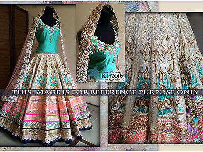 Indian Designer Lehenga Wedding Party Wear Ethnic Pakistani Bridal Choli 2019