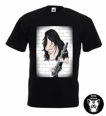 Roger Waters Pink Floyd Caricature TShirt Progressive Classic Rock 70s The Wall