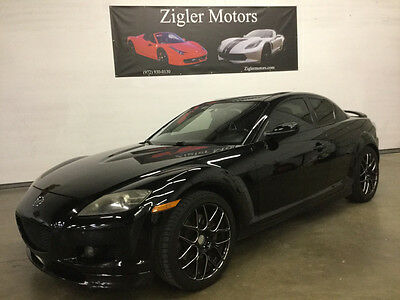 2007 Mazda RX-8 Base Coupe 4-Door 2007 Mazda RX8 Grand Touring,Black/Red Navigation,78kmi Clean Carfax