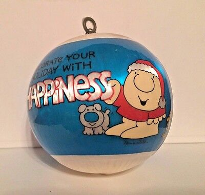 Vintage Ziggy Christmas Ornament Satin Ball 1983 Decorate holiday with happiness
